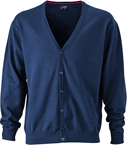 James & Nicholson Herren Cardigan, Blau (Navy)