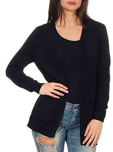 ONLY Damen 15174274 Strickjacke, Schwarz