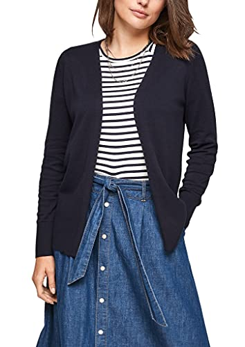 s.Oliver Damen Strickjacke in Navy-Blau