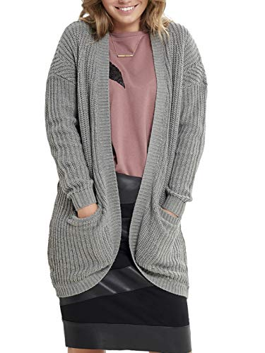 ONLY Damen New Cardigan, Grau