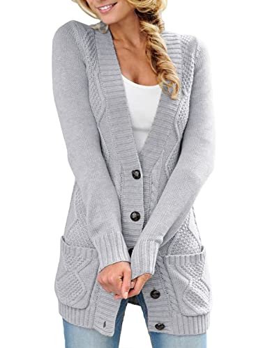 Happy Sailed Strickcardigan, Grau