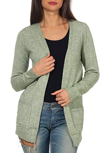 ONLY Damen 15174274 Strickjacke, Grün