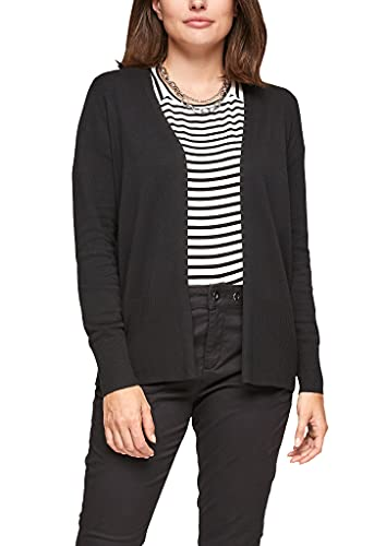 s.Oliver Damen Strickjacke in Schwarz