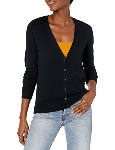 Amazon Essentials Damen-Cardigan, Schwarz