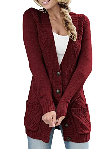 Happy Sailed Damen Strickcardigan, Rot