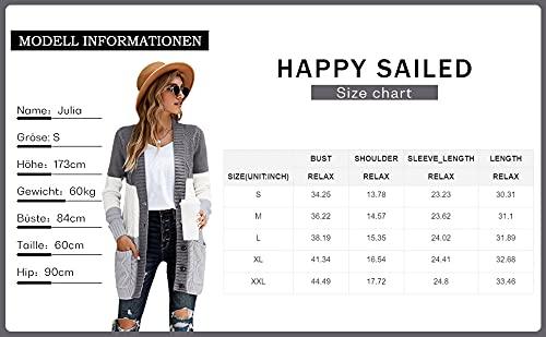 Happy Sailed Damen Strickcardigan, Rot - 6