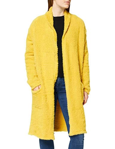Mavi Damen Long Cardigan, Gelb