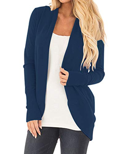 CNFIO Damen Cardigan in Navy Blau