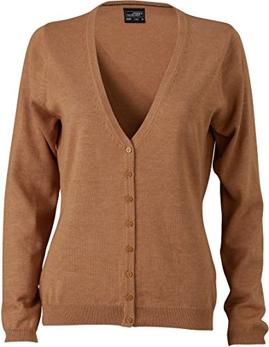 JN660 Damen Cardigan V-Neck, Camel