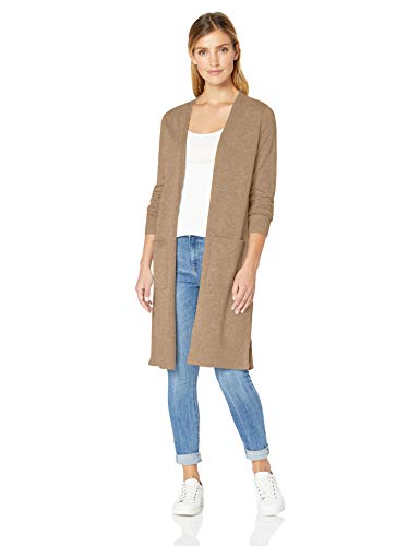 Amazon Essentials Damen Long-Cardigan, Beige