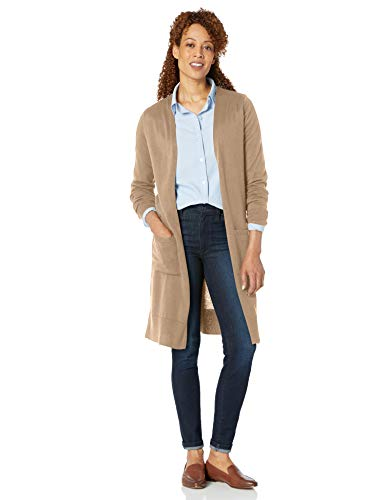 Amazon Essentials Damen Long-Cardigan, Beige - 3