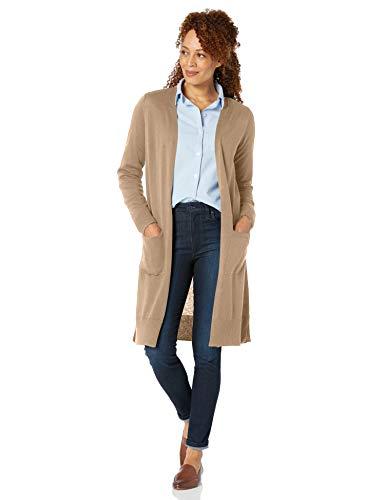 Amazon Essentials Damen Long-Cardigan, Beige - 4