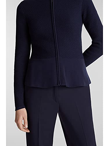 ESPRIT Collection Damen 999Eo1I802 Strickjacke, Blau (Navy 400), Small (Herstellergröße: S) - 5