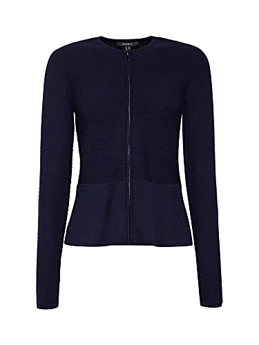 ESPRIT Collection Damen 999Eo1I802 Strickjacke, Blau (Navy 400), Small (Herstellergröße: S) - 3