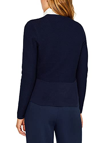 ESPRIT Collection Damen 999Eo1I802 Strickjacke, Blau (Navy 400), Small (Herstellergröße: S) - 2