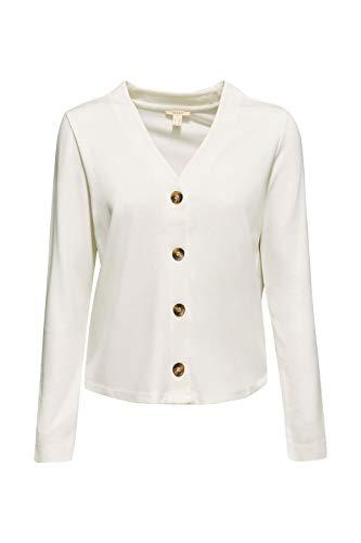 ESPRIT Damen 099EE1K066 Strickjacke, Weiß (Off White 110), Medium (Herstellergröße: M) - 4