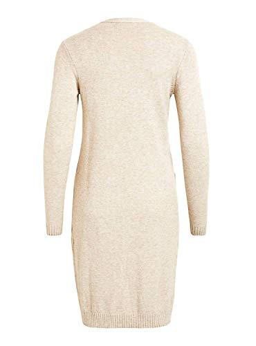 Vila Damen VIRIL Long L/S Knit Cardigan, Beige - 4