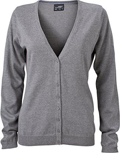 JN660 Damen Cardigan V-Neck, Grau