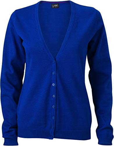 JN660 Damencardigan V-Neck, Royalblue