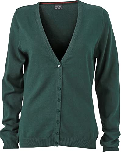 JN660 Damen Cardigan V-Neck,Forest