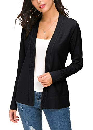 EXCHIC Damen Cardigan Schwarz