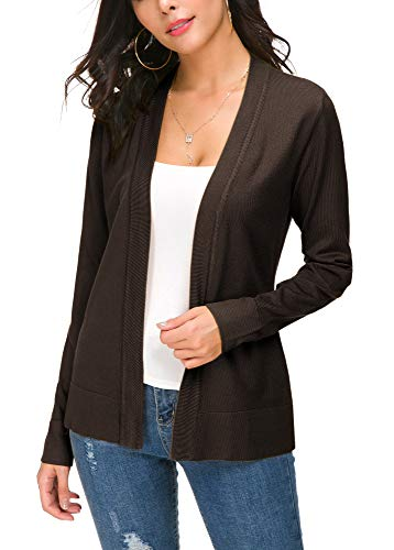 EXCHIC Damen Cardigan Braun