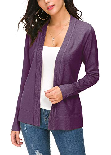 EXCHIC Damen Cardigan Lila