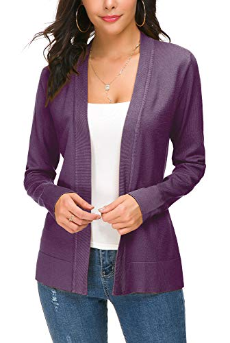 EXCHIC Damen Cardigan Lila - 2