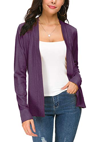 EXCHIC Damen Cardigan Lila - 3