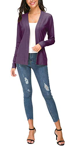 EXCHIC Damen Cardigan Lila - 7