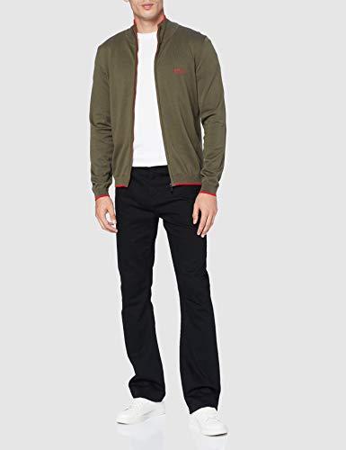 BOSS Mens Zoston_W20 Cardigan Sweater, Dark Green (305), XXXL - 3
