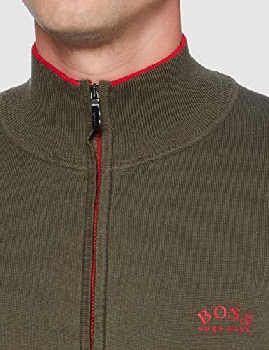 BOSS Mens Zoston_W20 Cardigan Sweater, Dark Green (305), XXXL - 4