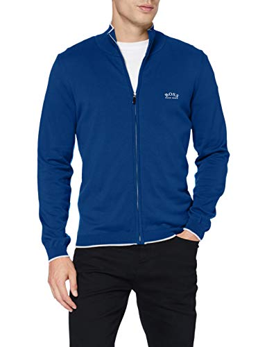 BOSS Mens Cardigan Sweater, Blau